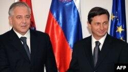 Ivo Sanader i Borut Pahor, 24. veljače 2009.