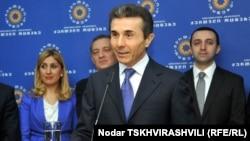 Վրաստան - Բիձինա Իվանիշվիլին իր գրասենյակում հանդիպում է լրագրողների հետ, Թբիլիսի, 15-ը փետրվարի, 2012թ.