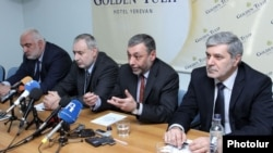 Armenia - Prominent opposition politicians announce the revival of the former ruling Armenian Pan-National Movement in Yerevan, 14May2013.