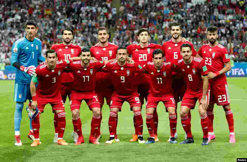 Soccer Football - World Cup - Group B - Iran vs Spain - Kazan Arena, Kazan, Russia - June 20, 2018 Iran players pose for a team group photo before the match REUTERS/Toru Hanai