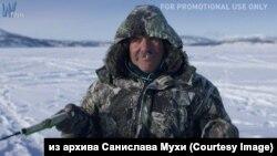 """Колыма. Зимняя рыбалка. Кадр из фильма """"Дорога костей"""""""