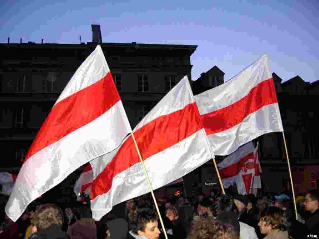 Сьвяткаваньне Дня Волі ў Варшаве, 25 сакавіка 2008 году