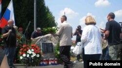 Открытие мемориала на месте гибели Виктора Ногина и Геннадия Куринного