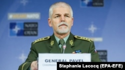 Голова Військового комітету НАТО генерал Петр Павел під час прес-конференції в Брюсселі, 17 січня 2018 року