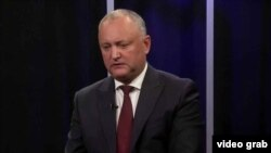 Moldovan President Igor Dodon made his comments in an interview with RFE/RL. (file photo)