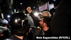 "На акции протеста против фильма Левана Акина ""А потом мы танцевали"""