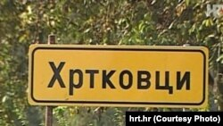 Tabla na ulazu u selo
