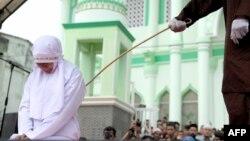 Наказание мусульманки по шариату (иллюстративное фото)