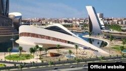صورة متخيلة معمارياً لمشروع مكتبة بغداد الجديدة