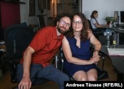 Bogdan Micu și Valentina Ion, director de dezvoltare în firma Alpin Sun Group.