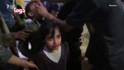 Кадры предполагаемой химической атаки в Сирии