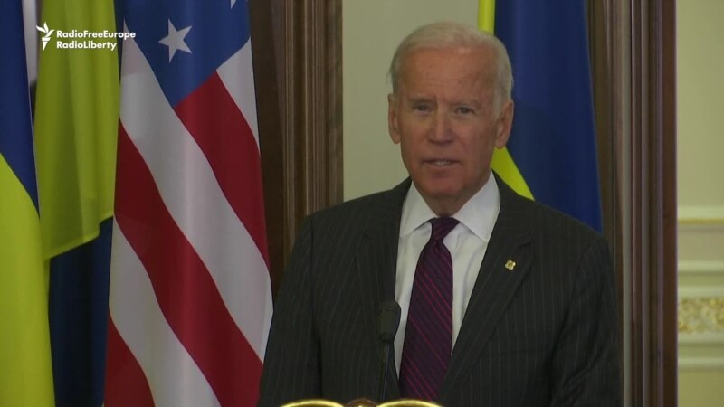 Biden: Keep Sanctions On Russia For 'Aggression' In Ukraine