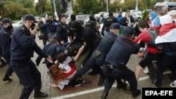 درگیری معترضان با پولیس در بلاروس