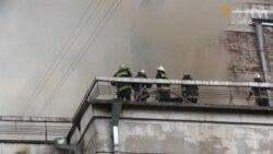 Сильна пожежа у Черкаському театрі: зруйнована глядацька зала, але врятована сцена