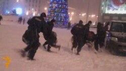 Затрыманьні ў цэнтры Менску 20 сьнежня