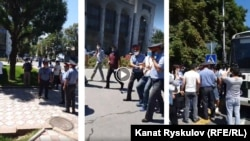 Милиция задержала участников акции «Бойкот выборам!». 13 июля 2020 года.