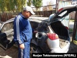 Автомобиль Нурлана Жумабаева