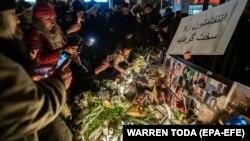 گردهمایی در تورنتو به یاد قربانیان هواپیمای مسافربری اوکراینی که توسط سپاه پاسداران سرنگون شد