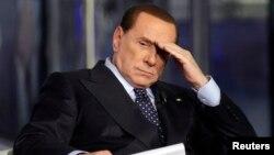 Իտալիա - Սիլվիո Բեռլուսկոնին մի հեռուստահաղորդման ժամանակ, արխիվ