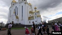 Дети из православной гимназии в Красноярске