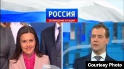 Лилия Галимова белән Дмитрий Медведевның туры эфирда сөйләшү мизгелләре