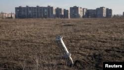 Вид на Енакиево. Февраль 2015 года