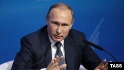 Vladimir Putin gjatë fjalimit të djeshëm në qytetin Stavropol