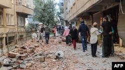 Диярбакырдағы жарылыс болған орын. Түркия, 4 қараша 2016 жыл.