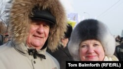 Moscow pensioners Irina and Vladislav participated in anti-Soviet protests over 20 years ago.