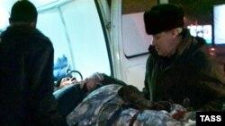 Человек, раненый в катастрофе веролета Ми-8 на Алтае, 13 января 2009
