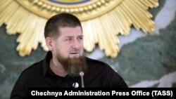 Фотография Рамзана Кадырова, опубликованная пресс-службой администрации Чеченской Республики в Грозном, 26 мая 2020 года.