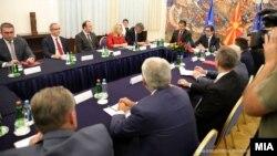 Лидерска средба кај претседателот Стево Пендаровски, архивска снимка