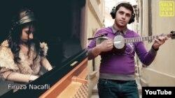 Azerbaijan. Baku. Azerbaijani music clip
