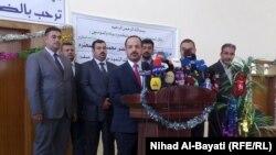 وزير التربية محمد تميم في مؤتمر صحفي بكركوك