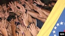 Venezuela - 03Dek2007 Xalıq referendum näticälären bäyräm itä