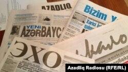 Азербайджанские газеты. Архивно-иллюстративное фото