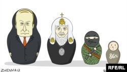Украиналық суретші Евгения Олейник салған карикатура.