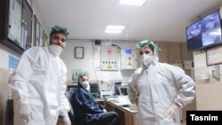 A special unit for taking care of coronavirus-affected patients in Iran's Khuzestan Province.