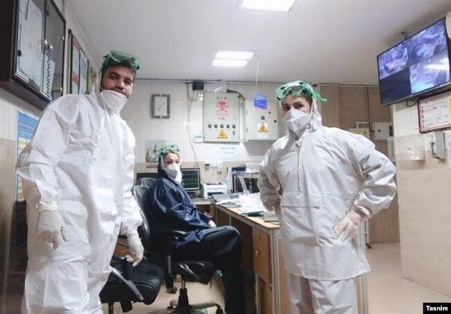 بخش ویژه کرونا در بیمارستان رازی اهواز