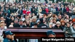 Церемонія прощання із загиблими в Керчі, 19 жовтня 2018 року