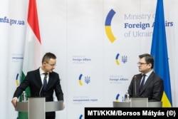 Szijjártó Péter Dmitro Kuleba ukrán külügyminiszterrel Kijevben január 27-én