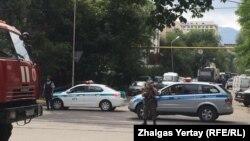 Алматы көшелеріндегі күшейтілген қауіпсіздік шарасы. 20 шілде 2016 жыл.