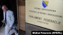 Ulaz u zgradu Parlamenta Federacije Bosne i Hercegovine, Sarajevo.