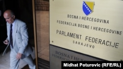 Ulaz u zgradu Parlamenta FBiH