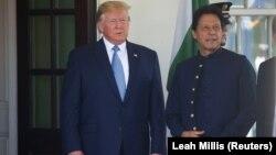 Միացյալ Նահանգների նախագահ Դոնալդ Թրամփի և Պակիստանի վարչապետ Իմրան Խանի հանդիպումը Սպիտակ տանը, Վաշինգտոն, 22-ը հուլիսի, 2019թ.