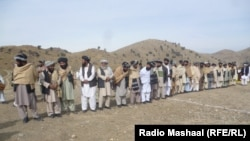 North Waziristan and Khost tribal leaders near the Ghulam Khan border crossing between Pakistan and Afghanistan (file photo).