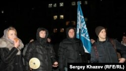 Участники митинга в Самаре