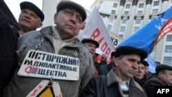 Акція протесту біля будівлі Кабміну, 16 березня 2011 року