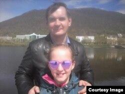 Юля с отцом