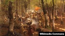 Даргинское сражение, худ. Франц Рубо